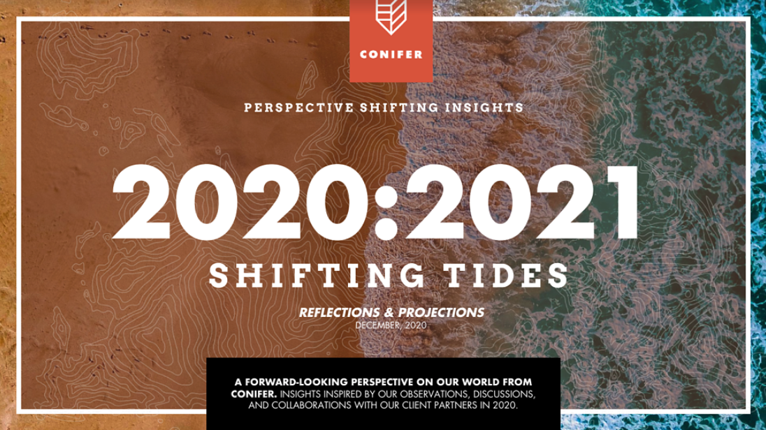 Conifer 2020:2021 Shifting Tides - Reflections & Projections